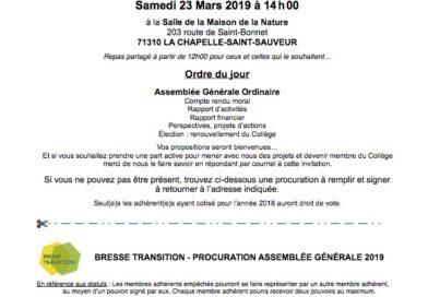 Assemblée Générale Bresse Transition